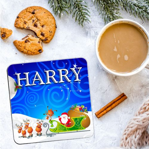 Personalised Christmas Coaster N21  - ANY NAME